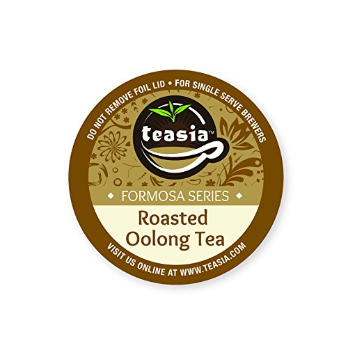 (Teasia Tea Pods, Roasted Oolong, All Natural GMO-free Single Serving Capsules, Formosa Series, Hot & Iced Tea Cups for Keurig 2.0 K-Cup Brewers (36-count))