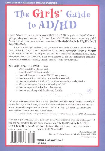 The Girls Guide To Ad Hd Don T Lose This Book Beth Walker