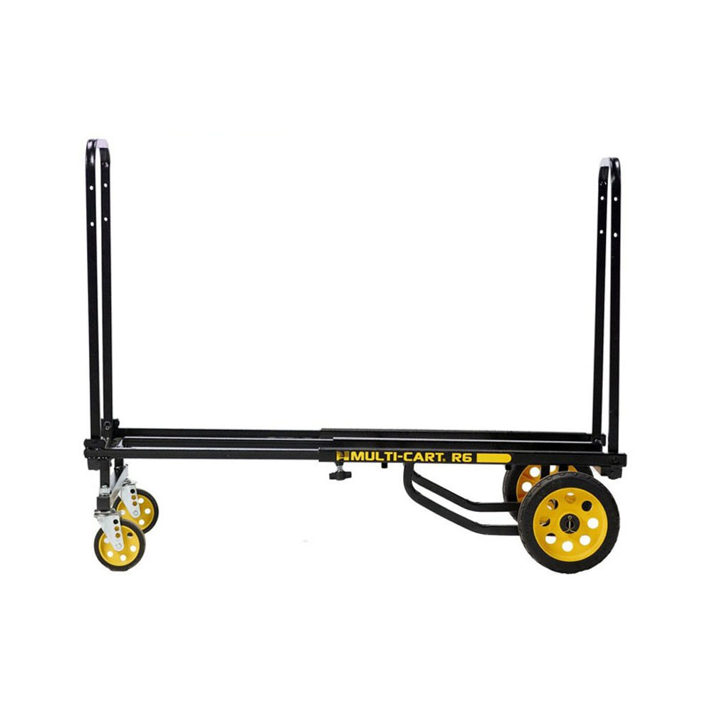 "Rock-N-Roller R6RT (Mini) 8-in-1 Folding Multi-Cart/Hand Truck/Dolly/Platform Cart/29"" to 42.5"" Telescoping Frame/500 lbs. Load Capacity, Black"