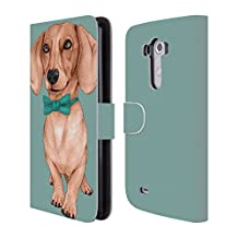 Official Barruf Dachshund, The Wiener Dogs Leather Book Wallet Case Cover For LG G4 / H815 / H810