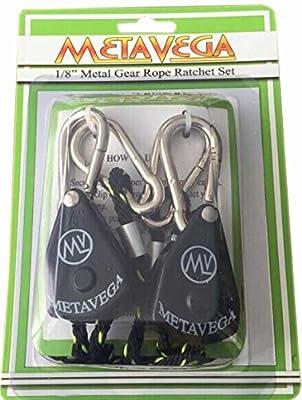 """Metavega Rope Ratchet Set - 1/8"""" Metal Gear Locking"""