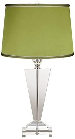 Satin Olive Green Crystal Trophy Table Lamp Amazon Com