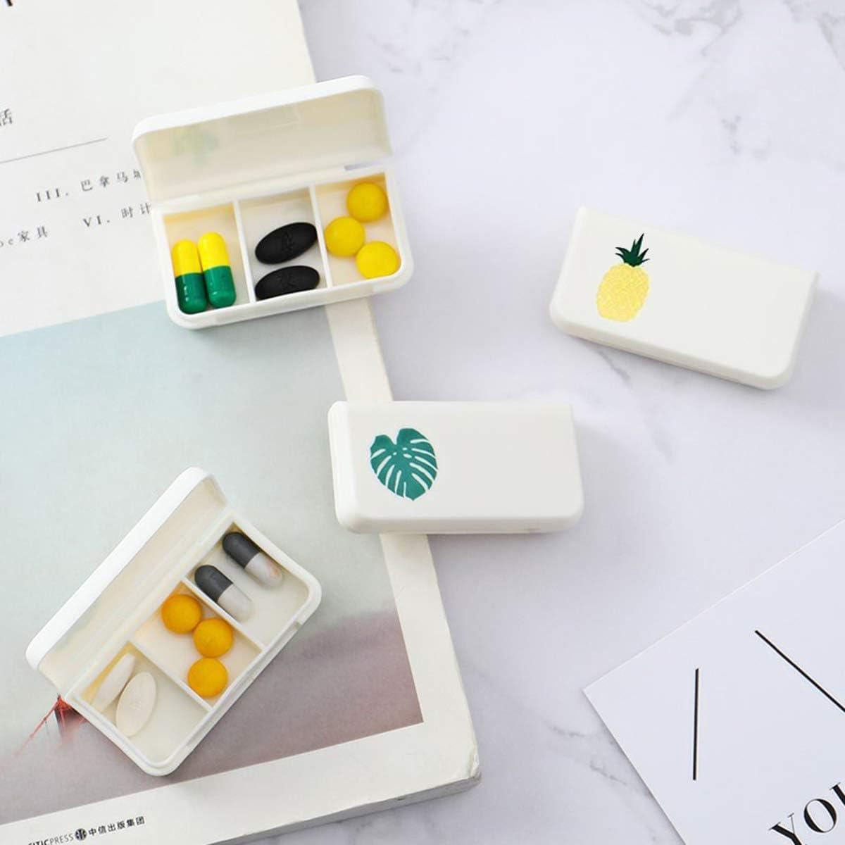 Portapillole Portapillole Mini Portapillole per viaggiare allaperto modello di stampa in lettere