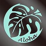 nc-smile ハワイアンステッカー モンステラ Aloha ミントグリーン