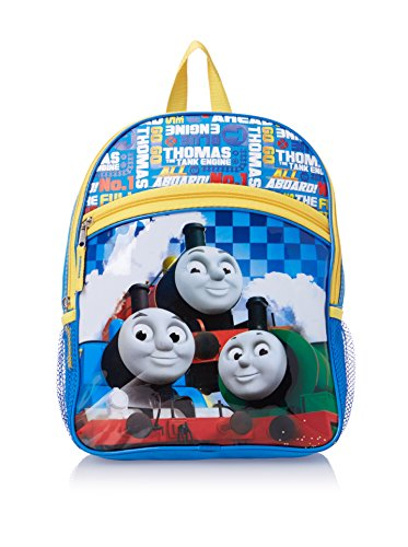"""Thomas James and Percy the Tank Engines All Aboard Boys 12"""" Small Backpack Bag"""