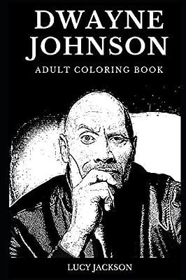 Dwayne Johnson Adult Coloring Book Legendary Professional