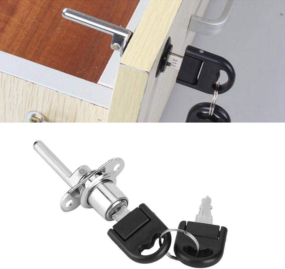16mm-Plata Duokon 2 Piezas cerraduras de gabinete Muebles caj/ón Armario archivador Cerradura con Llaves Seguridad de Oficina