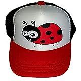Toddler Youth Ladybug Mesh Trucker Hat Cap Kid's RWB