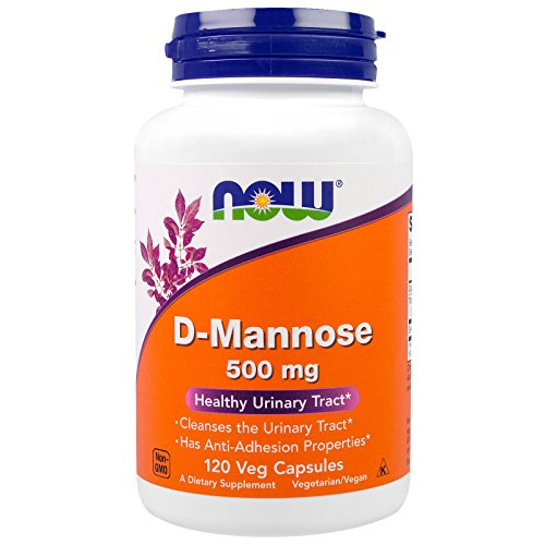 Now Foods D-Mannose, 120 Caps 500 mg (Pack of 3) (Foods 120 Caps)