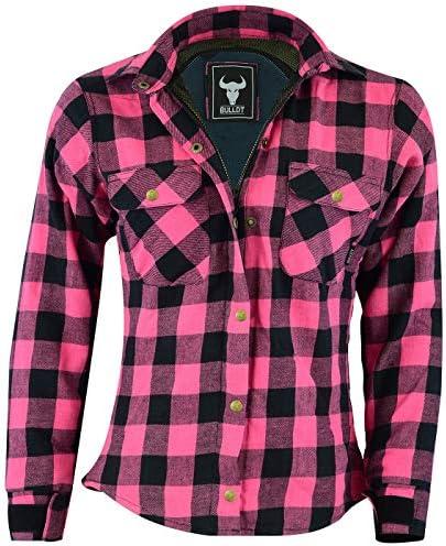 BULLDT Camisa de mujer para moto con diseño de leñador, protectores: Amazon.es: Coche y moto
