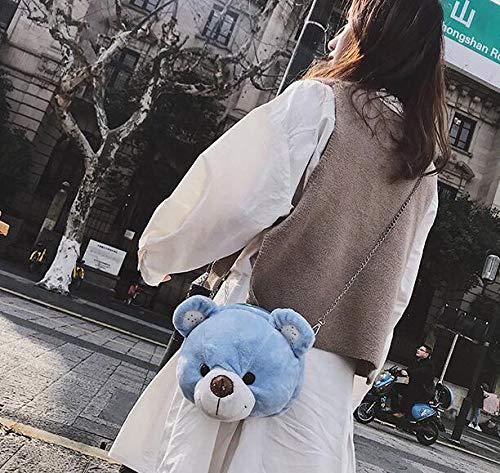 Simple à Peluche Sac de Plus Blue Simple à à Bags supérieure à à Mode Main Sac Baguettes Ours Sac poignée Tote Main Mignonnes de Main vnaqww4X