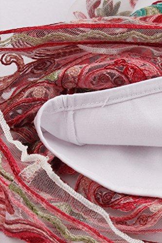 Babyonlinedress Vestido vintage y casual cuello horizontal sin mangas falda de tul con bordados a los años 50 vestido de fiesta para bodas 2