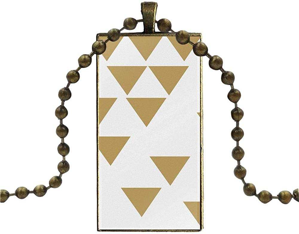 For Women Men Party Gift Necklace Fashion Long Chain With Rectangle Necklace Jewelry Morocco Art Deco Tile Map