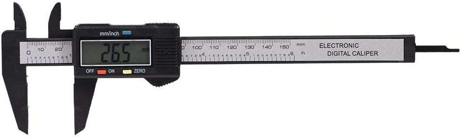 Black Unibell Digital Caliper with Extra Large LCD Screen for Measuring Inside Outside Depth Steps