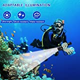 TURN RAISE Scuba Diving Light, Diving Flashlight
