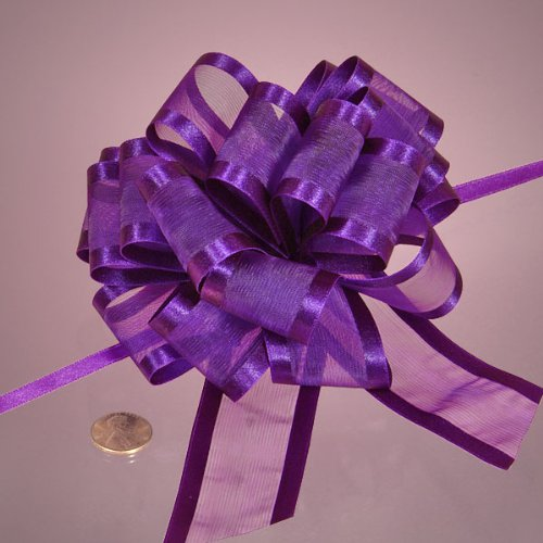 Purple Arabesque Ribbon Bow, 4'' by Paper Mart