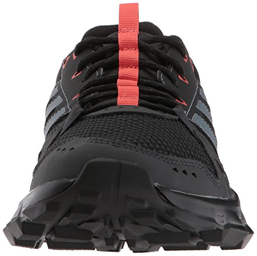 adidas Women's Rockadia w Trail Running Shoe, Carbon/Raw Steel/Trace Scarlet, 6.5 M US by adidas (Image #4)