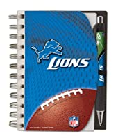 Detroit Lions Deluxe Hardcover, 4 x 6 Inches Notebook and Pen Set, Team Colors (12023-QUI)