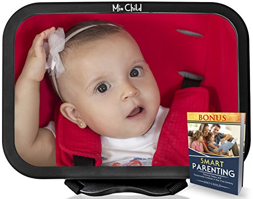 Mia Car (Baby Mirror for Car - Have Your Baby In-Sight At All Times - Safe, Adjustable Car Seat Mirror - Bonus Ebook - By Mio Child)