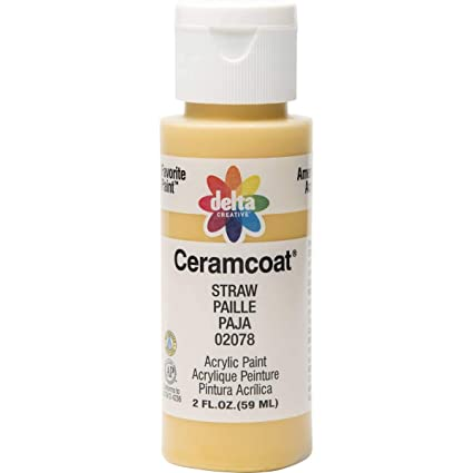 0e952e4a Delta Creative Ceramcoat Acrylic Paint in Assorted Colors (2 oz), 2078,  Straw