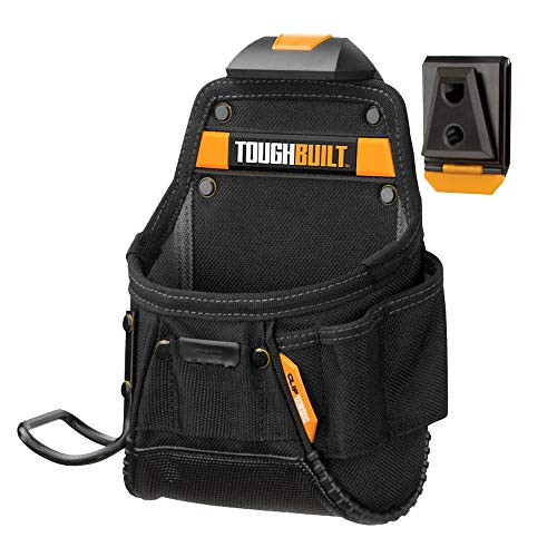 ToughBuilt - Project Pouch/Hammer Loop - Heavy-duty Construction, Custom Tape Measure Clip, 6 Pockets and Loops, Extreme-duty hammer loop (Patented ClipTech Hub & Belts) (TB-CT-24)