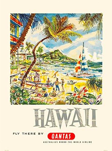 hawaii-oahu-qantas-united-states-america-vintage-travel-advertisement-poster