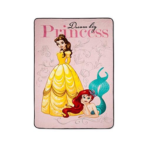 Disney Princess Little Mermaid Ariel Dream Big Plush Blanket Oversized Throw Belle Disney Princess Fleece Blanket