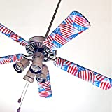 Fancy Blade Ceiling Fan Accessories Blade Cover Decoration, American Flag