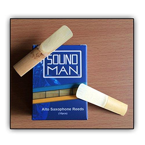 10 Soundman® Cañas de Lengüeta para Saxofón Alto (1,5)