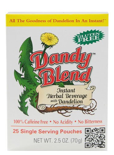 Dandy Blend, Instant Dandelion Beverage, 25 Single Serving Pouches, 2.5 -