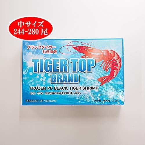 築地魚群 ブラックタイガーエビむき身(中サイズ 244-280尾)1.8kg 冷凍便