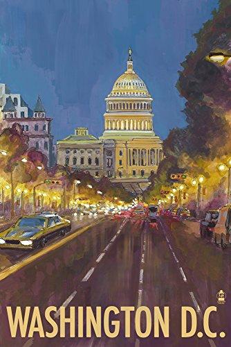 Capitol Building - Washington DC (9x12 Art Print, Wall Decor Travel (Capitol Washington Dc Framed Art)