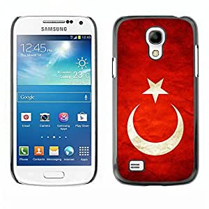 Shell-Star ( National Flag Series-Turkey ) Snap On Hard Protective Case For Samsung Galaxy S4 MINI / i9190 / i9192