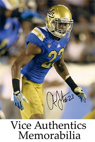 Anthony Jefferson Signed Autographed Auto UCLA Bruins 8x10 - Pac 12 Mini Football Helmets
