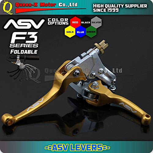 F3 Series Brake Lever - Brakes ASV F3 1St Series Clutch & Brake Foldable Alloy Levers Accesories Motorcycle Supermoto Enduro Pit Bike Dirtbike Rmz Drz Rm Dr - (Color: Green)