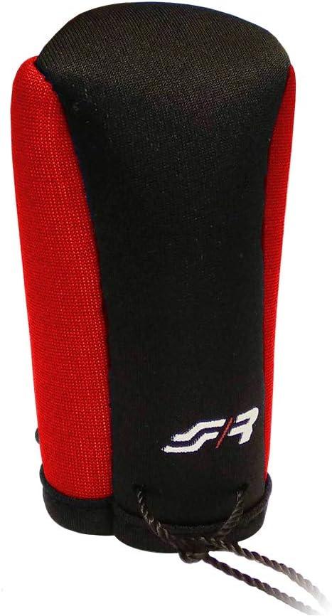 Black//Red SR Logo Simoni Racing Gear Knob Cover
