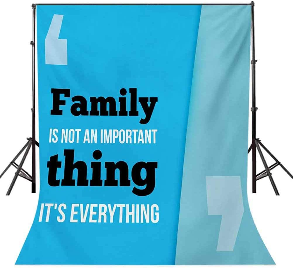 Family 10x12 FT Photography Backdrop Family is Everything in Quotation Marks Inspirational Phrase Modern Design Background for Baby Birthday Party Wedding Vinyl Studio Props Photography