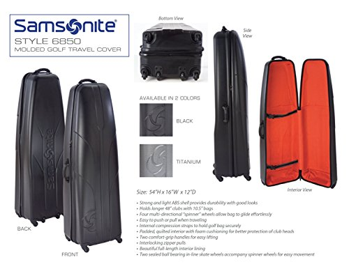 Samsonite Golf Hard Sided Travel Cover Case – DiZiSports Store