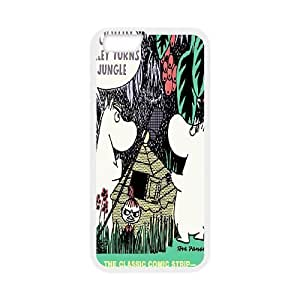 Back Skin Case Shell iPhone 6s Plus 5.5 Inch Cell Phone Case White Moomin Valley Icgjw Pattern Hard Case Cover