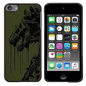 TECHCASE---Cubierta de la caja de protección para la piel dura ** Apple iPod Touch 6 6th Touch6 ** --Resumen del dragón