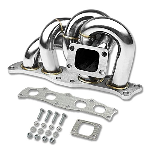 DNA Motoring TM-3SGTE-T3T4 Stainless Steel Turbo Manifold (Best Turbo For 3sgte)
