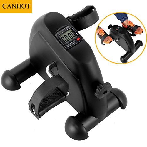 CANHOT Mini Pedal Exercise Bike Portable Folding Fitness Pedal Stationary Under Desk Indoor Exercise Bike for Legs, Physical Therapy with Calorie Counter by CANHOT