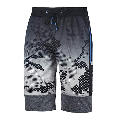 Men's Gym Shorts Outdoor Sports Running Beach Shorts Lightweight Quick Dry Shorts with Pockets