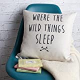 How Big Is a King Size Bed Lettering Where The Wild Things Sleep Cotton Linen Throw Pillow Case Cushion Cover Decorative for Sofa Couch Bedroom 18