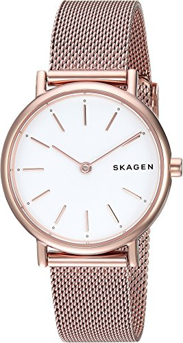 - Skagen Women's Signatur Japanese-Quartz Watch with Stainless-Steel Strap, Rose Gold, 14 (Model: SKW2694)