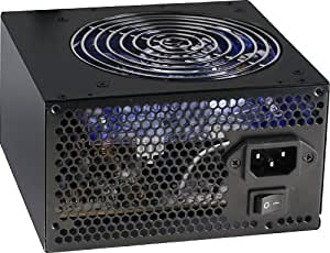 Eagle Tech Voltas ET-PSVTX600E-BK 600Watt Power Supply 12cm LED fan, 13 connectors, Crossfire & SLI ready