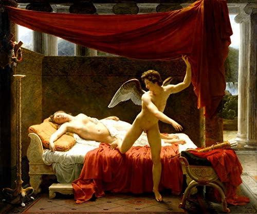 WONDERFULITEMS Amore e Psiche Soul Desire Love Bed 1817 dipinto di Francois Eduard Picot su tela Repro: Amazon.it: Casa e cucina