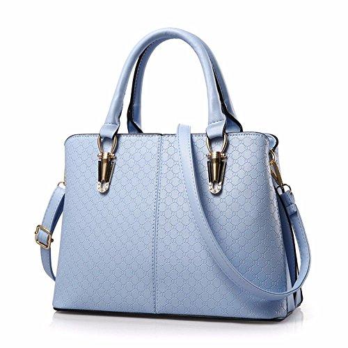 MSZYZ Regalos de Navidad Simple Bolso Bolso Azul Marino Sky blue