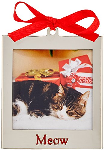 Lenox 870948  Silver Ornaments Meow Frame