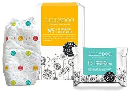 Lilly Ghundoo pañales – Prueba del Paquete – 10 Pañales y 15 Toallitas